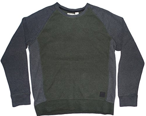 Dkny Men Sweaters (DKNY Jeans Men's Sweater Color Block Pullover, Olive, Medium)