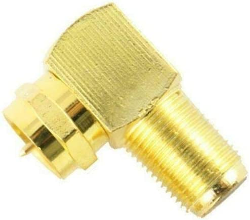 90 Degree Right Angle F Male Female Connector Adapter Coaxial Cable RG6 RG59 LOT