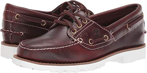 Timberland Women's Noreen Lite Handsewn Boat Shoe Burgundy Full Grain 9.5 B US (Boats Shoes Timberland)