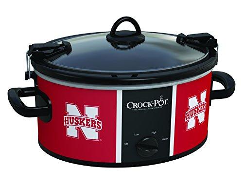 Crock-Pot Nebraska Cornhuskers Collegiate 6-Quart Cook Carry Slow Cooker