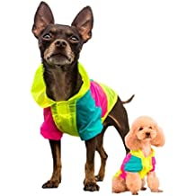 Unizero Dog Sun Protect Neon Jacket, Back to 80s Pop Style Dog Shirt, for Teacup and Small Dog Clothes - Chihuahua and Yorkie Clothes XS