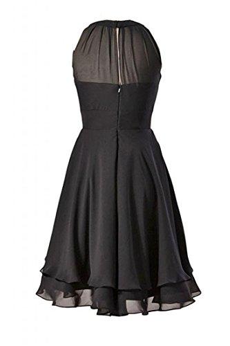 Anlin Une Ligne Robe De Bal Courte An153 Robe De Demoiselle D'honneur En Mousseline De Soie Licol Jonquilles