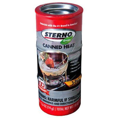 Sterno 2.6-Ounce Entertainment Cooking Fuel, 3-Pack