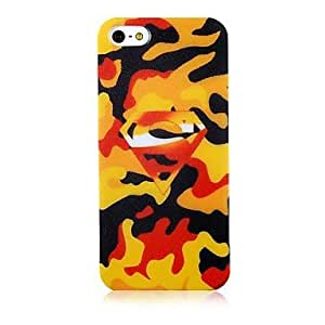 iPhone 5S Case, WKell Camouflage Color Jewel Back Case for iPhone 5/5S
