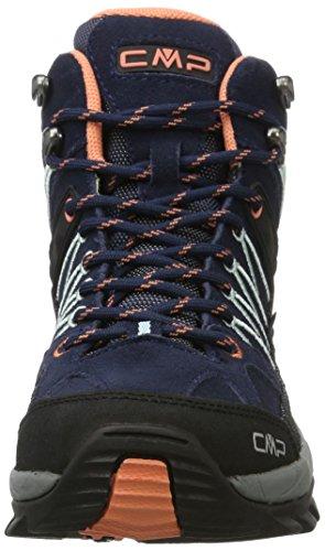 C.P.M. Rigel, Zapatos de High Rise Senderismo para Mujer Azul (B.blue-giada-peach)