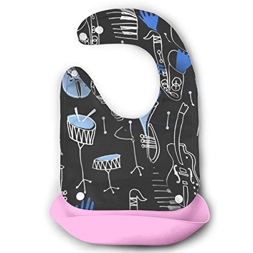 Waterproof Baby Super Bib Feeding Roll-up Bibs Musical Fabric Preview Silicone Bib For Babies&Toddlers -