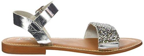 L'ATELIER TROPEZIEN Sandale Perle - Zapatos Mujer Plata (Silver)