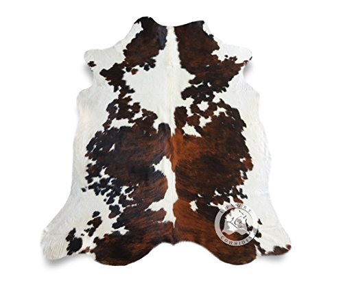 Tricolor Cowhide Rug APPROX 6ft x 8ft 180 cm x 240cm - Top Quality