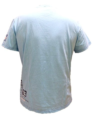 CAMP DAVID T-SHIRT TROPICAL WATERS II AQUA CCB-1705-3117 L XL