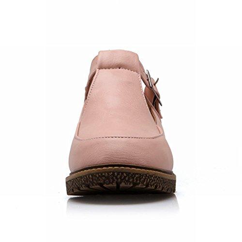 Carol Scarpe Moda Donna Fibbia Casual Carino Comfort Grosso Mocassino Con Tacco Basso Scarpe Rosa