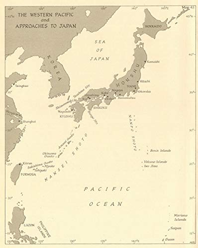 Amazon.com: Western Pacific & approaches to Japan in 1945 ... on map of japan religion, map of japan korea, map of japan food, map of japan pokemon, map of japan 1940s, map of japan russia, map of japan history, map of japan japanese, japanese territory in ww2, map of japan modern, map of japan military, map of japan school, map of japan 1950s, map of japan world war 2, map of japan china, japan flag ww2, map of japan christmas, map of japan art, map of japan animation, extent of japanese empire in ww2,