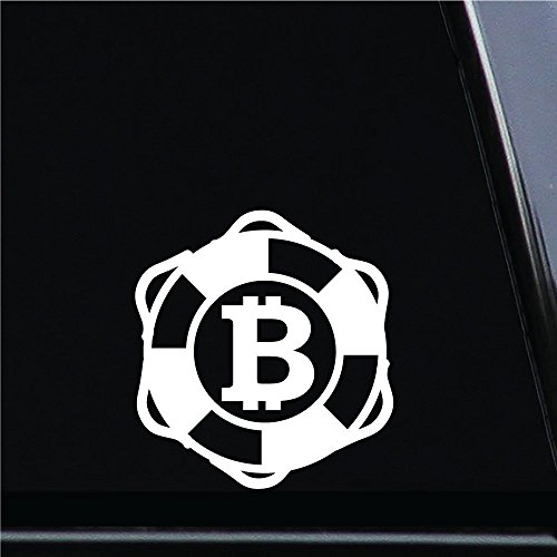 Bitcoin Symbol (Design #170) Vinyl Die-Cut Decal Sticker for Car, Notebook, Computer, Window or Wall (4