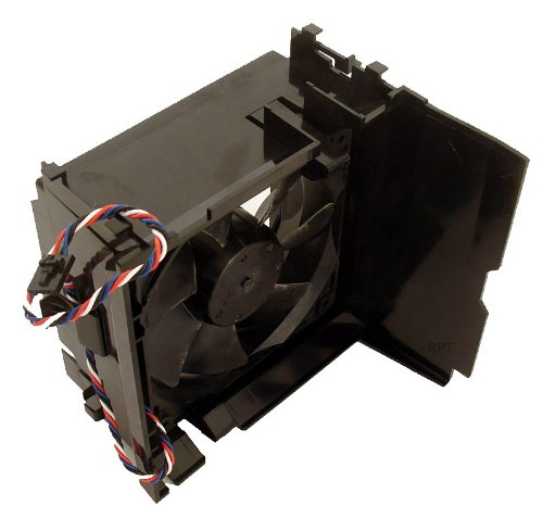 Genuine Dell PC Case Cooling Fan For Dimension E520, E521 and 5100 Mini Tower (MT) Fan Part/Model Numbers: Y4574, U6368, H7058, 4715KL-04W-B56