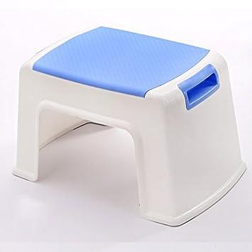 Taburetes Xiaolin Espesar plástico Tabla de Comedor de casa de Moda baño (Color : Marrón, Tamaño : Height46cm)