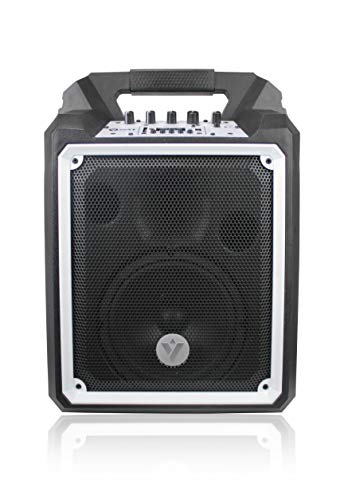 VOYZ 100W Portable Wireless Bluetooth Waterproof Boombox Speaker - Rugged Construction Loudspeaker with Built in Sub-Woofer - Rechargeable Battery and USB MP3 SD Card Reader (VZ-AB6)