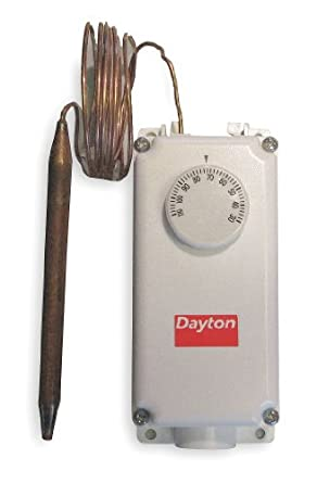 Dayton 2NNR6 Line Voltage T-Stat, -0 to 100 F, SPST on