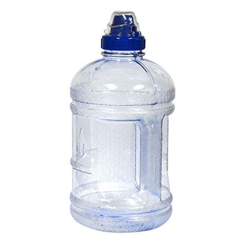 1/2 Gallon (64 oz.) polycarbonate Plastic Water Bottle w/ 48mm Twist Cap - Natural Blue (Blue Polycarbonate Water Bottle)