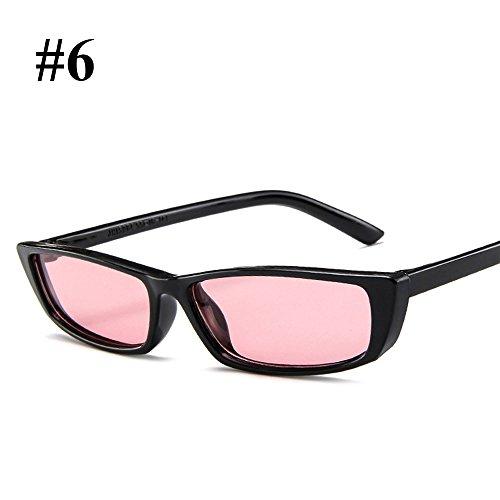 wlgreatsp Gafas Retro Sol Señoras de de 6 Protección Moda UV Gafas Gafas rTqrE5F