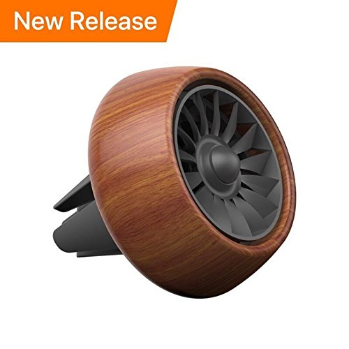 Fragrance Perfume Air Freshener - SUNUNITEC Car Fragrance Diffuser Air Freshener Vent Clip, Wooden Car Aromatherapy Essential Oil Diffuser Air Purifier with 3 Refill Oil Pads (Rosewood)