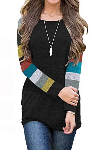- AUSELILY Women's Cotton Knitted Long Sleeve Lightweight Tunic Sweatshirt Tops (US6-8, New Mulit)