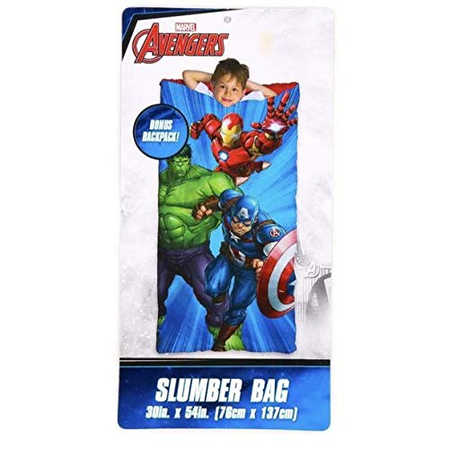 KidPlay Products Marvel Avengers - Saco de Dormir para niños, diseño de Slumber: Amazon.es: Hogar