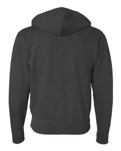 Independent Trading Co Unisex Full Zip Hooded Sweatshirt. AFX90UNZ - Medium - (Hooded Zip)