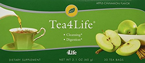 Tea4Life Apple-Cinnamon (12 for the Price of 11) by 4Life - 30 bags / 12 Boxes by 4life