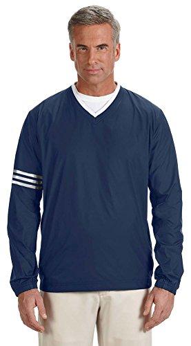 adidas Golf Men's climalite Colorblock V-Neck Wind Shirt