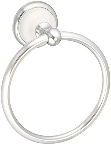 Franklin Brass  126882 Bellini Towel Ring, Polished Chrome & White ()