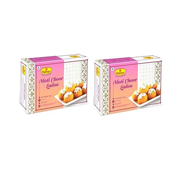 Haldiram's Motichoor Laddu 1kg (500 gm x Pack of 2)