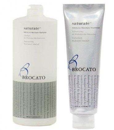 Brocato Saturate Intensive Moisture Shampoo (32 floz / 946ml) & Treatment (5.25 floz / 150 ml) Dual - Shampoo Moisture Brocato