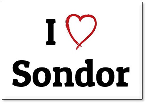 I Love Sondor  Fridge Magnet  Design 1