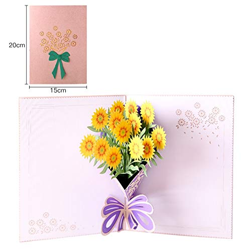 Paper Spiritz Thank You Christmas Postcard 3D Pop Up Laser Cut Wedding Birthday Greeting Gift Cards Thanksgiving Valentine's Day]()