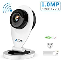 A-ZONE 720P Home Camera Wireless IP Security Surveillance System,White