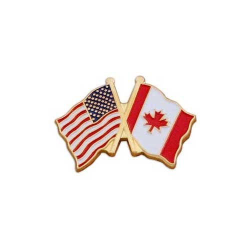 USA Flag - Left - and Canada Flag - Right - Lapel - Cost To Canada Shipping