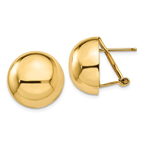 a Clip 16mm Half Ball Earrings (0.6IN Diameter) ()