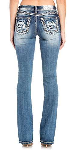 Miss Me Wave of Love Bootcut Jeans Dark Blue from Miss Me