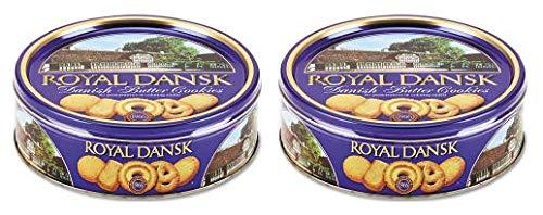 Royal Dansk Cookies Danish Butter 12oz Tin Cans ( 2 pack )