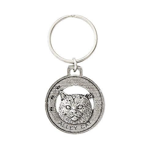Alley Cat Pewter Key Chain, Key Fob, Key Ring, Gift, C003KC
