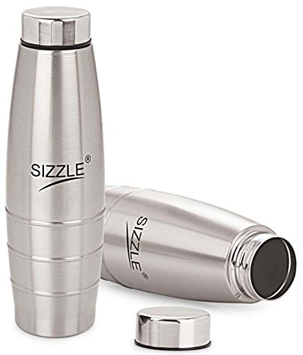 Sizzle SFB-501 Stainless steel Fridge Water Bottle( Set of 2)1000 ml(Silver)