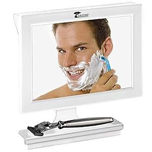 Productos toilettree fogless ducha espejo con esp tula for Espejo afeitado ducha