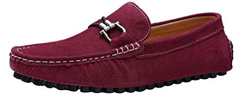 New Moda Salabobo Alla Mocassini Rosso 0022 Mens on Shoes Slip Casual Qyy Driving Br40r