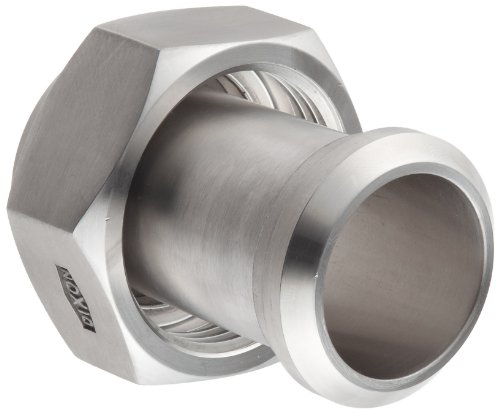 Dixon 17MP-14-G150 Stainless Steel 304 Sanitary Fitting, Plain Bevel Seat Adapter with Hex Nut, 1-1/2'' Tube OD by Dixon Valve & Coupling