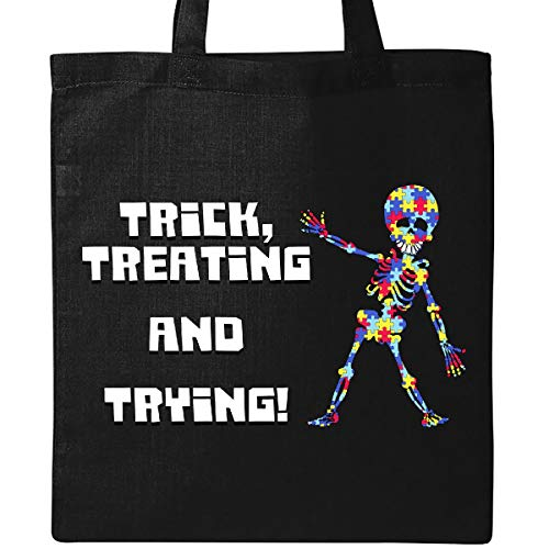 Halloween Treat Bags For Students (Inktastic Trick Treating and Trying Autism Awareness with Zombie Tote Bag)