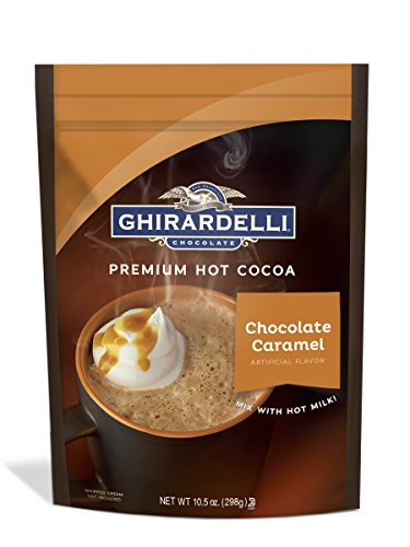 Caramel Chocolate Hot Chocolate - Ghirardelli Hot Chocolate Pouch, Caramel, 10.5 Ounce