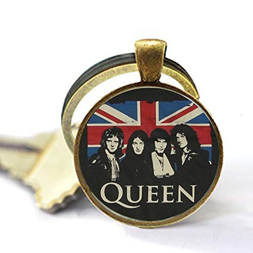 (Classic Gorgeous Art Metal Rock Band Queen Bohemian Rhapsody Keychain Key rings are composed)