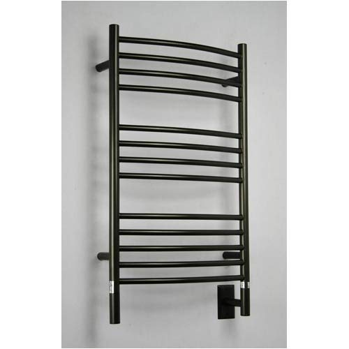 Jeeves - CCO-20 - C Curved Electric Towel Warmer - Rubbed Bronze - 35 in. tall