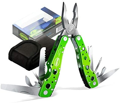 Jakemy 15 in 1 Multitool Portable Folding Pocket Knife Pliers Screwdriver Cutter Stainless Steel Survival Tool