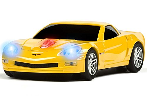 Price comparison product image Road Mice Chevrolet Corvette Optical Computer Car Mouse - Optical - Wireless - Radio Frequency - Yellow HP-11CHCZYXA