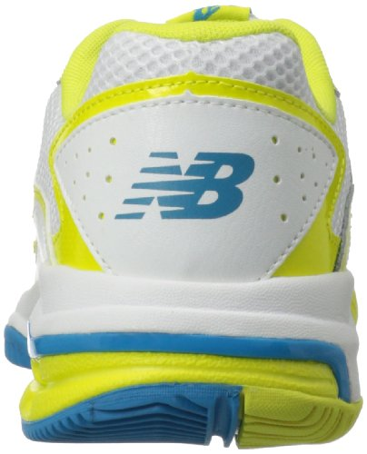 888098094114 - New Balance Women's WC786 Tennis Shoe,White/Yellow,7.5 2A US carousel main 1